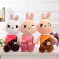 彩衣兔子公仔抱枕 可爱表情兔子布娃娃毛绒玩具儿童节生日礼物
