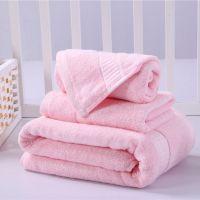 东莞竹纤维面巾批发 竹纤维广告礼品毛巾三件套装