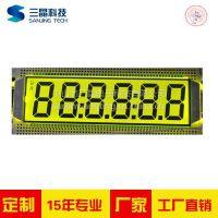 SAJ/三晶定制LCD液晶屏 6位数字显示屏 配套LED背光源 七彩灯背光