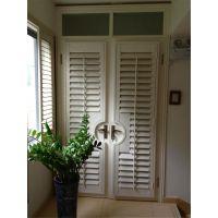 绿雅窗帘定做PVC椴木透气窗包边透气窗