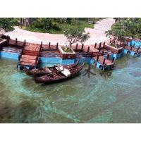 6米贡多拉旅游船 贡多拉手划船 欧式木船 贡多拉装饰船 苏兴制造