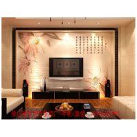 流行的电视墙背景墙 荷花类背景墙 诚招安阳经销商加盟