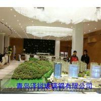 青岛玻璃钢售楼大厅软装,玻璃钢大堂立柱大包围