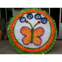 2米花圈A-07 雄县米家务镇正乾花圈厂,批发各尺寸布花圈,可来样订做。
