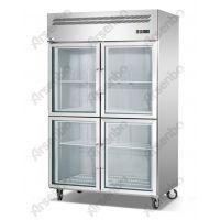 雅绅宝供应不锈钢两大门冷藏柜 鲜花展示柜 直冷冷藏展示柜生产厂