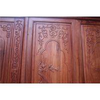 供应东阳鲁创红木缅甸花梨木福大衣柜,中国红木家具十大品牌之一
