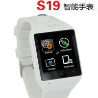 新品S19 蓝牙智能手表 手机拍照手表 防水智能可穿戴设备腕表