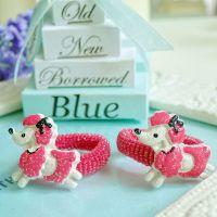 可爱小动物系列儿童发夹BB夹戒指圈多色 树脂头饰品、配件批发