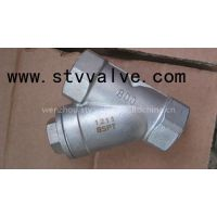 Screwed end stainless steel Y strainer (female thread y-filter )