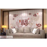河北厂家直销 美盛苑 供应瓷砖彩雕背景墙 中式背景墙 玉雕玄关