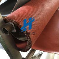 供应海卓硅胶布 软连接地铁耐火300℃涂层胶布 两布三胶硅胶布 隔热垫布