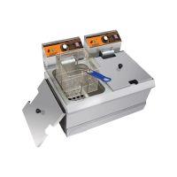 汇利HY-902双缸双筛台式炸炉电热油炸锅不锈钢薯条电炸炉炸油条机