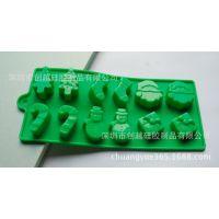 厂家硅胶冰格 硅胶圣诞老人模 silicone硅胶制品 创意冰格