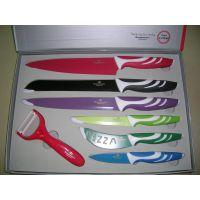 五件彩套刀 礼品套刀 不锈钢刀具套 雏菊套装 阳江套刀 彩色套刀
