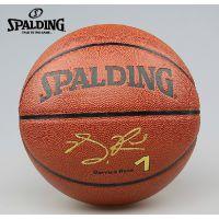 正品特价SPALDING斯伯丁PU皮公牛队罗斯签名职业室内外篮球74-162