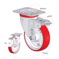 AGV脚轮支架聚氨酯轮agv辅助轮进口品牌工业脚轮