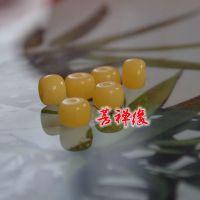 厂家直销 仿蜜蜡琥珀桶珠树脂工艺品 10*7mm  6*7mm  批发