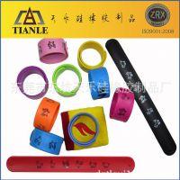 工厂专业生产礼品硅胶拍拍带 定制logo印刷彩印多色硅胶啪啪手环