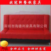 2015新款 深圳餐厅卡座沙发直销 真皮卡座沙发 酒店沙发定制