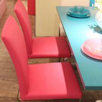 厂家直销 餐厅不锈钢餐椅 时尚简约风软包椅子  海德利精品餐椅