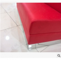韩式风红色真皮酒店卡座沙发 莱莉雅西餐厅指定卡座沙发