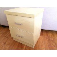 现代简约床头柜环保生态板免漆收纳柜床头迷你储物柜简易两斗柜