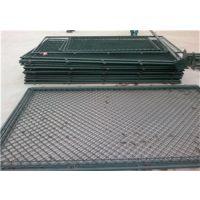 双晟学校球场四周绿色防护铁丝网围栏生产厂家出厂价格