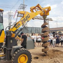 挖光伏线杆挖坑机932铲车改钻坑机可定做改装ZE22