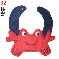 动漫宝贝卡通口水巾 卡通螃蟹造型外贸婴儿用品厂价批发