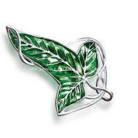 指环王精灵树叶胸针霍比特人树叶项链吊坠(绿叶胸针挂件2用)