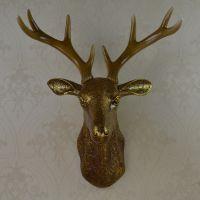 仿真奢华鹿头壁挂欧式现代创意家居背景墙饰工艺品复古动物头挂件