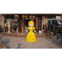 小公主卡通人物雕塑 商场装饰摆设 游乐园景观雕塑定做