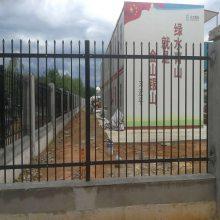 幼儿园烤漆围墙防护栏 广州铁艺栅栏 锌钢围墙护栏厂家 钢材