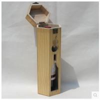 现货单支红酒盒双支木盒包装礼品包装高档白酒箱