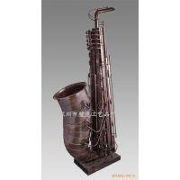 酒吧金属乐器雕塑摆件 落地雕塑-金属乐器摆件-乐器雕塑-萨克斯雕塑-吉他雕塑-音乐文化雕塑
