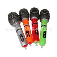 现货热销 充气玩具话筒 充气麦克风75cm 学校舞台道具专用