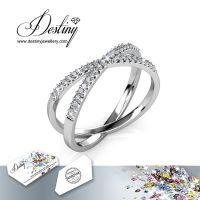 戴思妮 时尚水晶戒指 采用施华洛世奇元素 简约大方 女士饰品 厂家直销