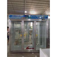 广州安德利三门饮料冷藏保鲜冰柜 带除雾