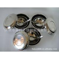 供应不锈钢便当盒 儿童便当碗 双层不锈钢保鲜碗