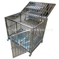 厂家直销折叠宠物笼 不锈钢加厚狗笼 大型狗笼子