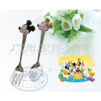 迪士尼不锈钢刀叉 米奇迪士尼不锈钢刀叉 订卡通的事呢不锈钢刀叉