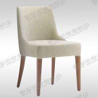 日式现代简约酒店椅 西餐厅亚麻布艺实木靠背餐椅 布套可拆洗 海德利厂家定制