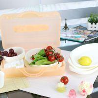 创意餐具 透明塑料碗筷盒套装 野餐塑料盒便携环保套装 厂家批发