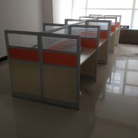 合肥办公家具厂家定做办公桌、实木简约屏风H-320款铝合金隔断办公桌 组合工位