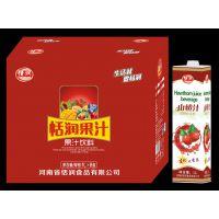 恬润1L纸盒装山楂汁 1L山楂汁厂家