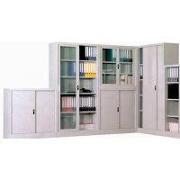 办公室钢制文件柜铁皮柜资料柜玻璃门家用书柜子大器械展示柜带锁