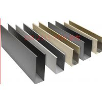 U型槽铝格栅吊顶专用铝天花|木纹铝方通天花用场合