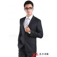 番禺区忠兴服装专业定做男西装,男式休闲西装供应
