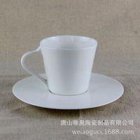 批发骨瓷欧式咖啡杯碟套装 陶瓷促销礼品白咖啡杯 可定制logo