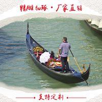 山东木船厂批发直销纯手工一头尖欧式手划船客船